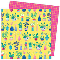 American Crafts - Write At Home Collection - 12 x 12 Double Sided Paper - Say Aloe To My Little Friend