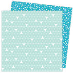 American Crafts - Write At Home Collection - 12 x 12 Double Sided Paper - Bleach Please