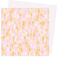 American Crafts - Write At Home Collection - 12 x 12 Double Sided Paper - What the Fork