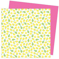 American Crafts - Write At Home Collection - 12 x 12 Double Sided Paper - Main Squeeze