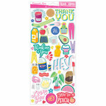 American Crafts - Write At Home Collection - 6 x 12 - Sticker Sheet with Foil Accents