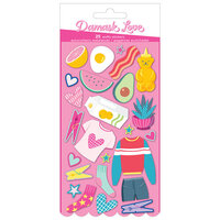 American Crafts - Write At Home Collection - Puffy Stickers