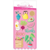 American Crafts - Write At Home Collection - Printed Wood Stickers
