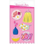 American Crafts - Write At Home Collection - Stickers with Glitter Accents
