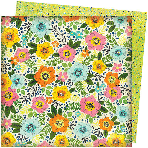 American Crafts - Let's Wander Collection - 12 x 12 Double Sided Paper - Sunshine and Smiles