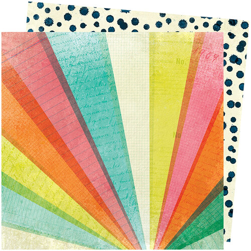 American Crafts - Let's Wander Collection - 12 x 12 Double Sided Paper - Day Tripping