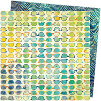 American Crafts - Let's Wander Collection - 12 x 12 Double Sided Paper - Beach Vibe