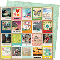 American Crafts - Let's Wander Collection - 12 x 12 Double Sided Paper - Picture Perfect