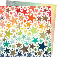 American Crafts - Let's Wander Collection - 12 x 12 Double Sided Paper - Chasing Stars