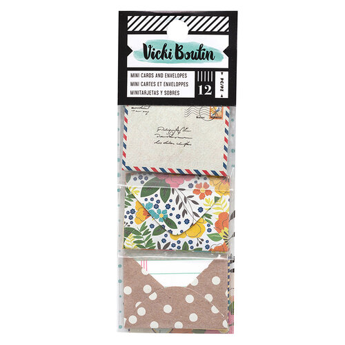 American Crafts - Let's Wander Collection - Mini Envelopes with Cards