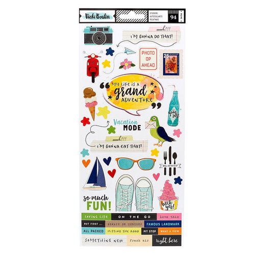 American Crafts - Let's Wander Collection - 6 x 12 Cardstock Stickers