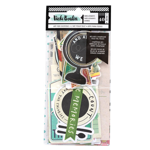 American Crafts - Let's Wander Collection - Ephemera - Vellum and Cardstock