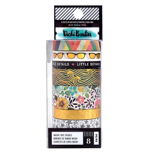 Vicki Boutin - Let's Wander Collection - Washi Tape with Foil Accents