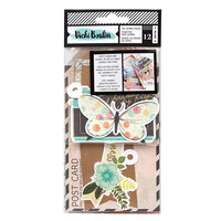 American Crafts - Let's Wander Collection - Tags and Journaling Pieces with Foil Accents