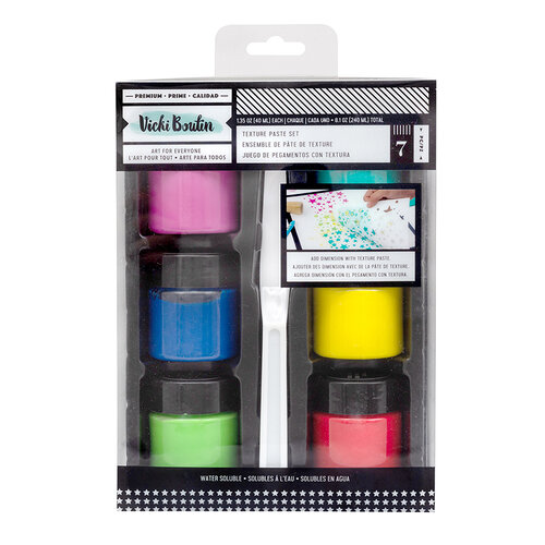 American Crafts - Let's Wander Collection - Texture Paste Set