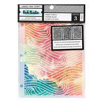 American Crafts - Let's Wander Collection - 8.5 x 6 Stencil Pack - Wander