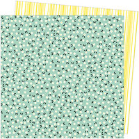 American Crafts - Picnic in the Park Collection - 12 x 12 Double Sided Paper- Flower Field