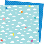 American Crafts - Picnic in the Park Collection - 12 x 12 Double Sided Paper- All the Way Up
