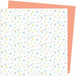 American Crafts - Picnic in the Park Collection - 12 x 12 Double Sided Paper- Dainty Dots