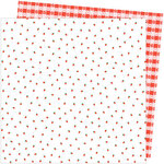 American Crafts - Picnic in the Park Collection - 12 x 12 Double Sided Paper- Berry Sweet