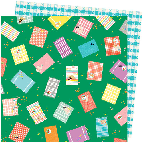 American Crafts - Picnic in the Park Collection - 12 x 12 Double Sided Paper- From Above