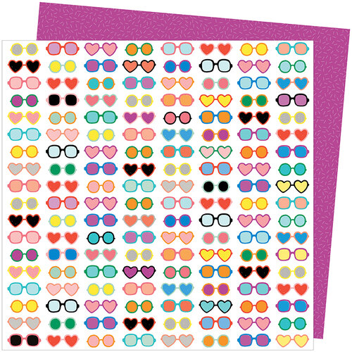American Crafts - Picnic in the Park Collection - 12 x 12 Double Sided Paper- Shady