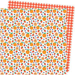 American Crafts - Picnic in the Park Collection - 12 x 12 Double Sided Paper- Peach Pit