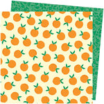 American Crafts - Picnic in the Park Collection - 12 x 12 Double Sided Paper- You're Peachy