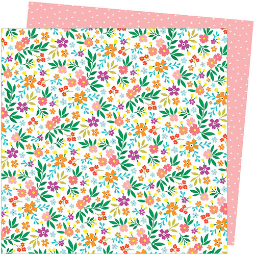 American Crafts - Picnic in the Park Collection - 12 x 12 Double Sided Paper- Petaluma Petunia