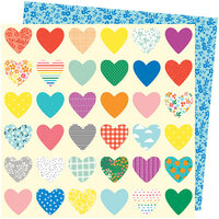 American Crafts - Picnic in the Park Collection - 12 x 12 Double Sided Paper- Whole Lotta Love