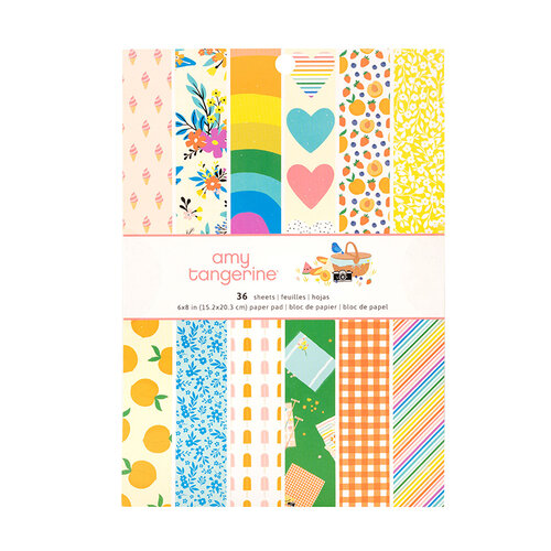 American Crafts - Picnic in the Park Collection - 6 x 8 Paper Pad