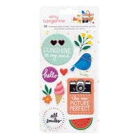 American Crafts - Picnic in the Park Collection - Embossed Puffy Stickers