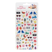 American Crafts - Picnic in the Park Collection - Mini Puffy Stickers