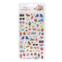 Amy Tangerine - Picnic in the Park Collection - Mini Puffy Stickers