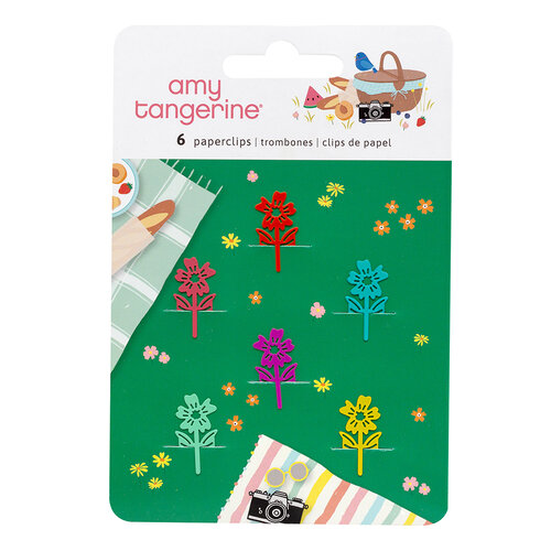 American Crafts - Picnic in the Park Collection - Shaped Paper Clips
