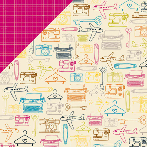 American Crafts - Amy Tangerine Collection - 12 x 12 Double Sided Paper - The Good Life