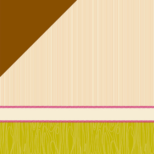 American Crafts - Amy Tangerine Collection - 12 x 12 Double Sided Stitched Paper - In Stitches