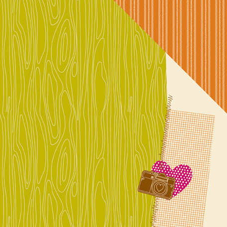 American Crafts - Amy Tangerine Collection - 12 x 12 Double Sided Paper - Woodness Gracious