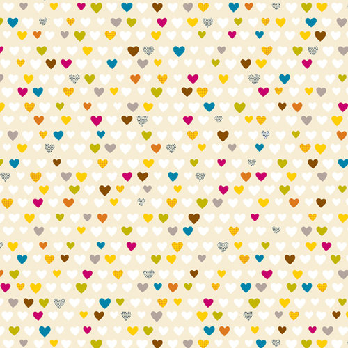 American Crafts - Amy Tangerine Collection - 12 x 12 Fabric Paper - Falling For You