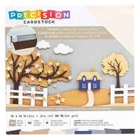 American Crafts - 12 x 12 Precision Cardstock Pack - 60 Sheets - Smooth - Neutral