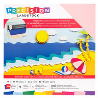 American Crafts - 12 x 12 Precision Cardstock Pack - 60 Sheets - Smooth - Primary