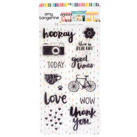 American Crafts - Slice Of Life Collection - Clear Acrylic Stamps