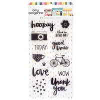 Amy Tangerine - Slice Of Life Collection - Clear Acrylic Stamps