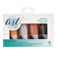 American Crafts - Art Supply Basics Collection - Metallic Acrylic Paint Set