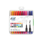 American Crafts - Art Supply Basics Collection - Pens - Dual Tip - 24 Pieces