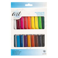 American Crafts - Art Supply Basics Collection - Professional Watercolor Paint Set - 18 Pieces