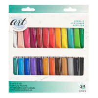 American Crafts - Art Supply Basics Collection - Professional Acrylic Paint Set - 24 Pieces