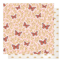 1 Canoe 2 - Willow Collection - 12 x 12 Double Sided Paper - Butterfly Garden