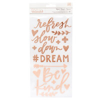 1 Canoe 2 - Willow Collection - Thickers - Foam Phrase - Copper Foil