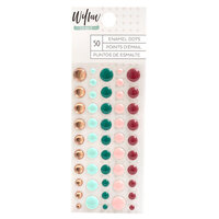 1 Canoe 2 - Willow Collection - Stickers - Enamel Dots with Copper Foil Accents
